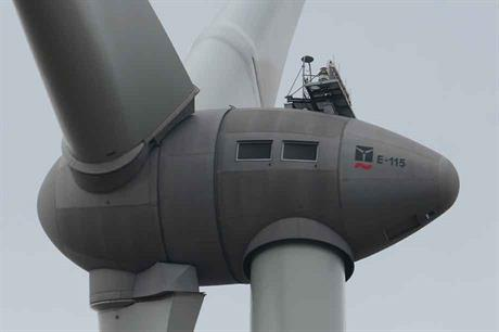 The E115 turbine (like the model above) was damaged last week, Enercon confirmed  (pic credit: Adl252/Wikimedia Commons)