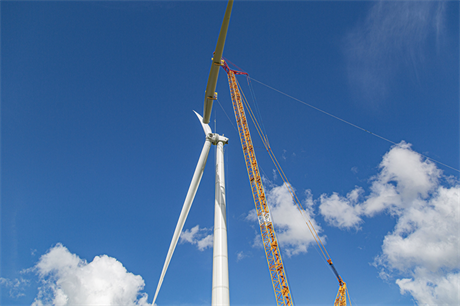 Enercon installed its E-160 EP5 prototype at a site in the Netherlands in July
