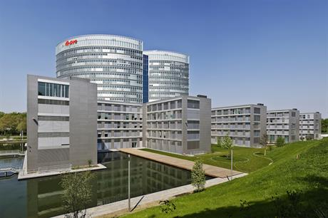 E.on intends to use the same name and keep its HQ in Essen, Germany (above) after taking over Innogy's grid and retail business.