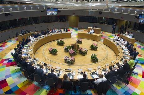 A meeting of the European council in June 2017
