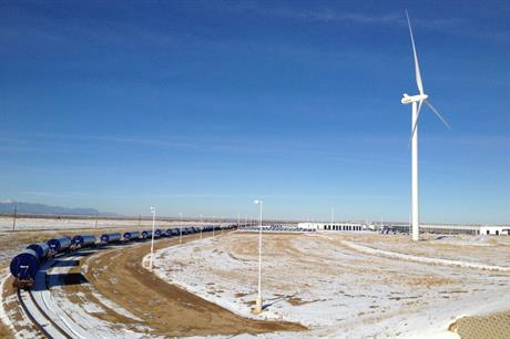 Vestas' Pueblo tower factory in Colorado, where jobs have been cut and remaining workers' hours reduced (pic:Stewart C Russell)