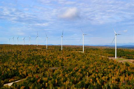 Vestas also supplied turbines to First Wind's Bull Hill project in Maine