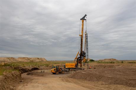 Construction is under way at ABO Wind's Forst Briesnig I site in Brandenburg