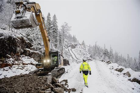Construction of the first Fosen wind project, Roan, is underway (pic: Ole Martin Wold/Statkraft)
