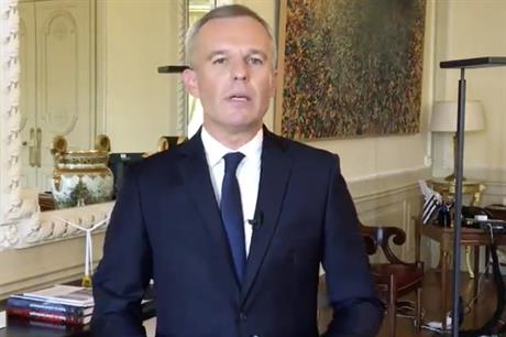 France's new environment and ecology minister, François de Rugy
