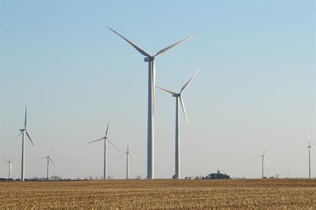 BP's 300MW Fowler Ridge wind farm in Indiana, US (pic: GE Renewable Energy)