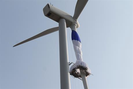 GEV has completed on-turbine testing of its Habitat maintenance platform