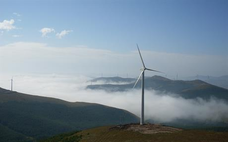 China's installed wind capacity makes up 80% of the total in the Asia-Pacific region