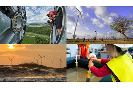 The four winners of the Global Wind Day photography competition