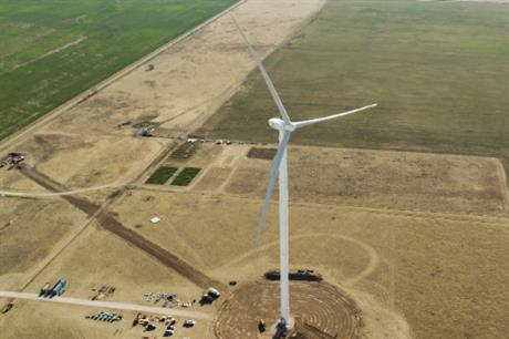 Goldwind 3MW(S) prototype, the US's tallest turbine, is now testing in Texas