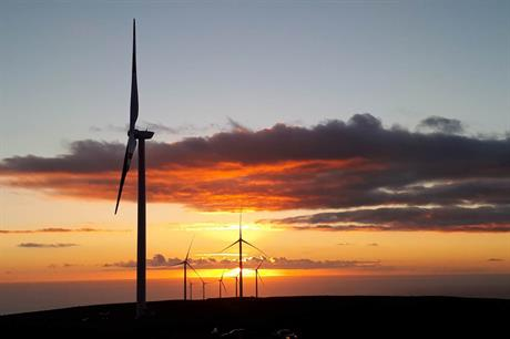 The Punta Sierra project in Chile comprises 32 2.5MW Goldwind turbines