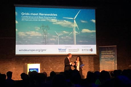 WindEurope CEO Giles Dickson (left) at the Grids meet Renewables conference in Brussels