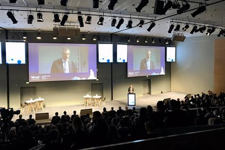 WindEurope chair Gunnar Groebler at the conference's opening session (pic credit: WindEurope)