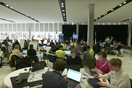 Last year's Hack the Wind event at WindEurope's conference in Amsterdam (pic credit: InnoEnergy)