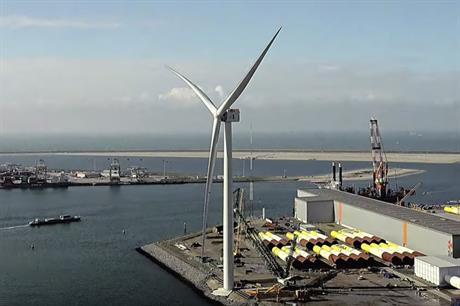 """GE had applied to operate the Haliade-X prototype with a """"rated power of 12-14MW"""", according to documents filed as part of the permitting process to use the Rotterdam site"""