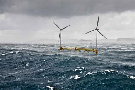 Hexicon 2: The platform is designed for two turbines