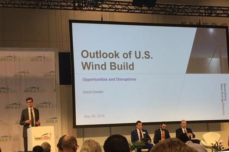 """David Hostert, head of wind energy research at Bloomberg New Energy Finance (BNEF) said the industry needed to """"get smarter"""" post-PTC"""