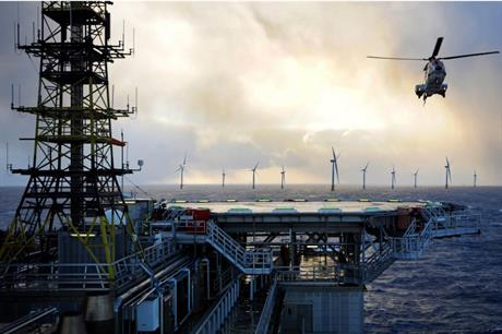 Equinor plans to power oil and gas platforms with output from its 88MW Hywind Tampen floating wind farm in the North Sea (above, an artist's impression)