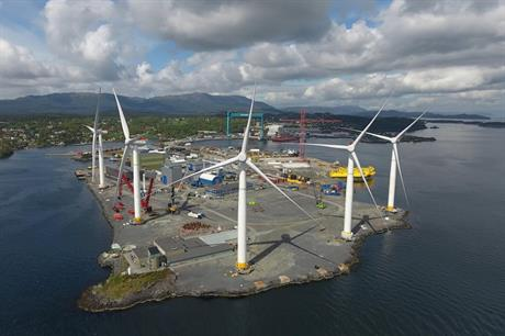 SGRE supplied turbines to the Hywind Scotland site, and were assembled in Stord (pic: Odd Henning Gilje / NSG)