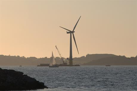Equinor and Masdar's 30MW Hywind project -- the world's first floating offshore wind farm (pic: Lars Christopher)