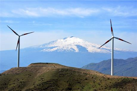 The 47.6MW Alcantara in Sicily comprises 56 Gamesa G52/850 turbines