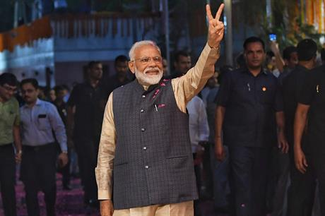 India's prime minister Narendra Modi won a second five year term in May (pic: Narendra Modi / Facebook)
