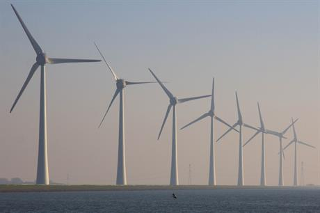 Innogy's Zuidwester project on the banks of Ijsselmeer comprises 12 Enercon 7.5MW turbines