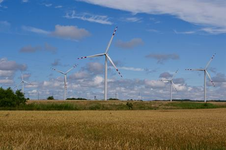 The 27.5MW Dobieslaw wind farm (above) is one of four projects involved in the lawsuits, Invenergy said in July