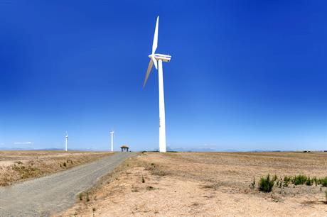 A Vestas turbine at Iberdrola's 27MW Klipheuwel wind farm in South Africa's Western Cape