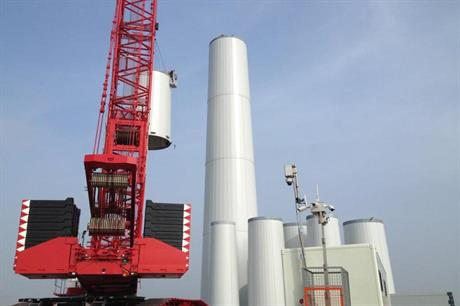 The turbines are being installed on 135-metre modular steel towers