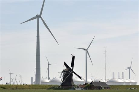 Lagerwey placed its 'David turbine' (above) next to a 'Goliath' windmill at a testing site