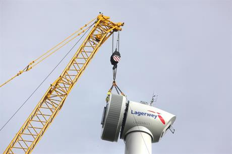 Lagerwey has won its first turbine supply order in Belgium