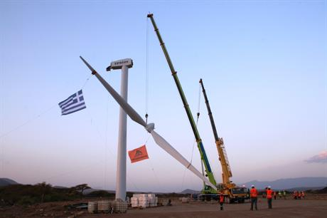 The 365th and final turbine is installed at Lake Turkana, northern Kenya
