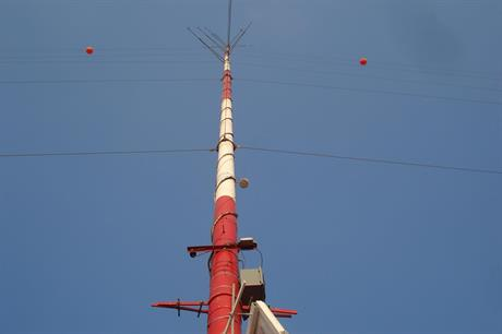 A met mast at one of the Lebanese project sites (pic: Hawa Akkar)
