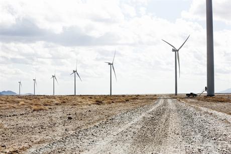 Vestas' V100-1.8MW turbines at the 50.4MW Macho Springs wind farm in New Mexico, US