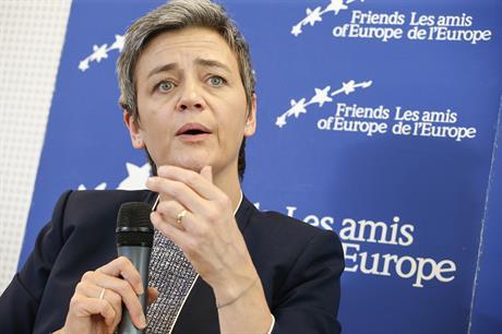 EC competition commissioner Margrethe Vestager
