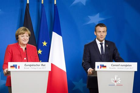 German chancellor Angela Merkel and French president Emmanuel Macron (pic: European Council)