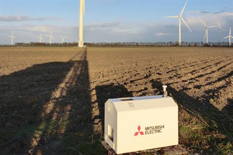 Mitsubishi Electric's new lidar uses a laser to measure wind speeds