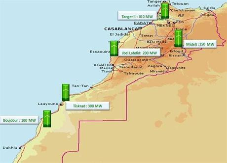 The 850MW tender comprises five projects across Morocco