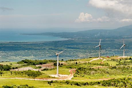 The Munro wind project near St Elizabeth, Jamaica (pic: JPS)