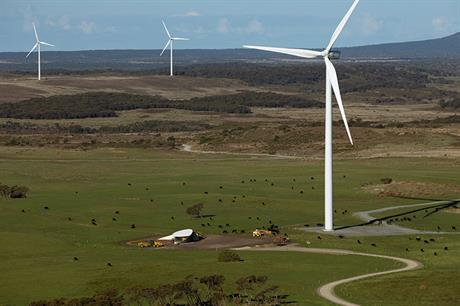 The 112MW Granville Harbour project will be Vestas's fourth in Tasmania, off south Australia (pic: Woolnorth Wind)