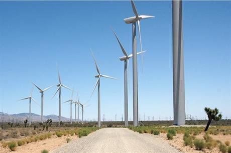 The 150MW Mustang Hills wind farm in Tehachapi, California