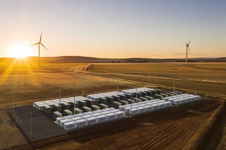 The Hornsdale Power Reserve is a 100MW/129MWh lithium-ion battery provided by Tesla (pic: Neoen)