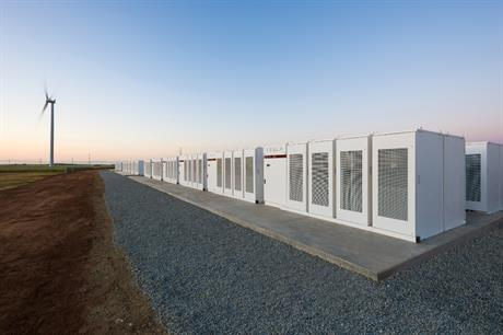 The 100MW Tesla battery at Australia's Hornsdale wind project is currently the world's largest