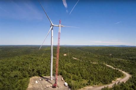 EDF EN Canada's 224MW Nicolas Riou wind farm in Quebec was the largest installed in Canada last year