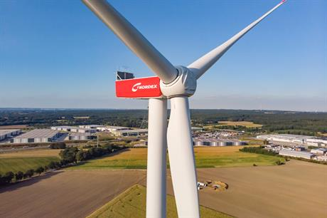 Innogy stated that it plans to buy Nordex turbines exclusively between 2019 and 2022