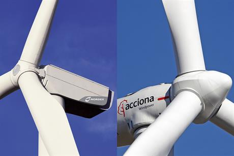 Sales for the Nordex Group - now with Acciona Windpower - were up 35% in H1 2016