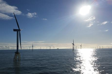 Aker Solutions supplied jacket foundations to the 295MW Nordsee Ost off the coast of Germany (pic credit: Innogy)