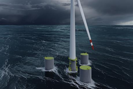 The turbine will be installed on Norwegian marine engineers Olav Olsen's OO-Star Wind Floater (above)