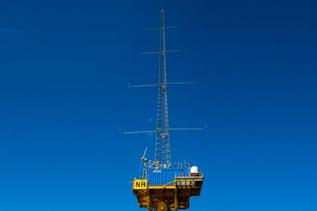 A met mast has been gathering wind data at the Blyth test site